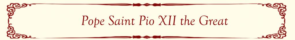 Pope Saint Pio XII